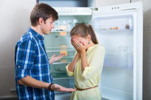 停電で冷蔵庫の中身が台無しになった